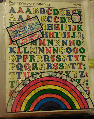 Primary Color Rub On Alphabet 10 Pages Upper Lower Case Cooper Black 60pt