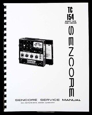 Sencore Tc-154 Tc154 Mighty Mite Tube Tester Manual