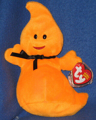 TY HAUNT the HALLOWEEN GHOST BEANIE BABY - MINT with MINT TAG](Beanie Baby Tag Halloween)