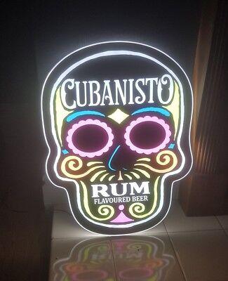 CUBANISTO SKULL LED ILLUMINATED WALL HANGING NEON STYLE SIGN brand new pub bar