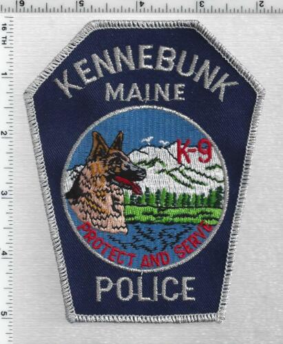 Kennebunk Police K-9 (Maine) 1st Issue Silver Bullion Shoulder Patch
