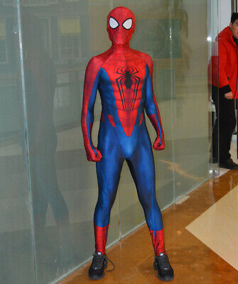 Spandex Costumes For Kids (Spiderman Costume 3D Printed Spandex Spider-Man Cosplay Suit For)