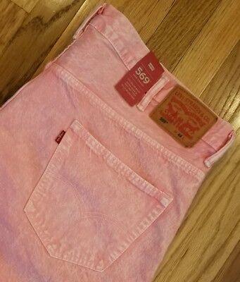 Levi's 569 Mens Loose Straight Denim Jean Shorts 355690306 Sz 44 Pink THESPOT917