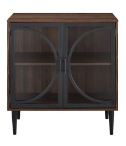 New Accent Console Cabinet Glass/Wood