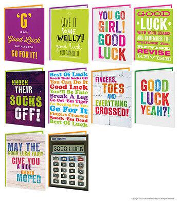 Brainbox Candy Viel Glück & Prüfungen Grußkarten lustig Humor Modern Kühl Design ()