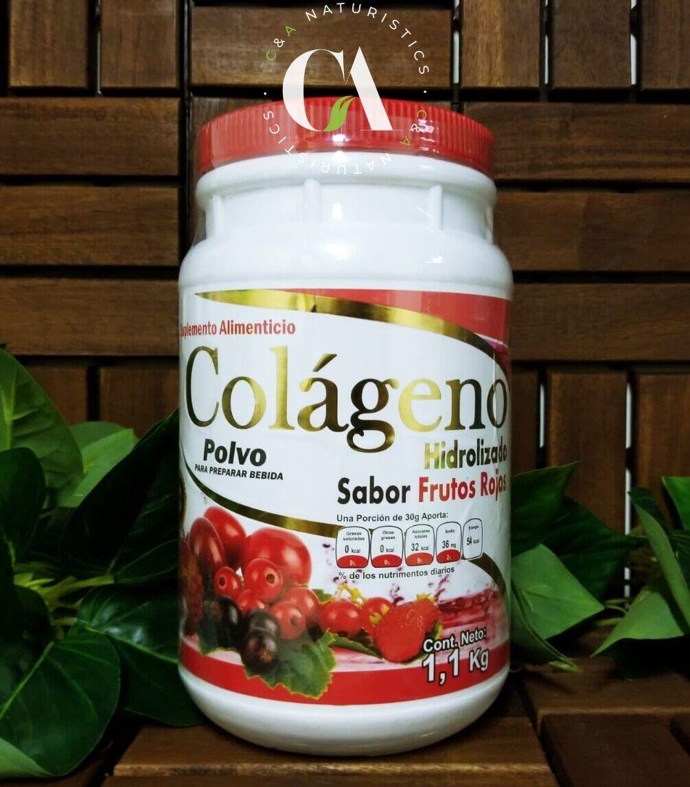 Colágeno Hidrolizado Sabor Frutos Rojos 1.1Kg