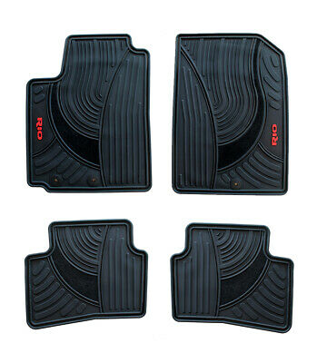 Floor mats for Cars Set of All weather OEM Kia Rio 2018-2020 Red -