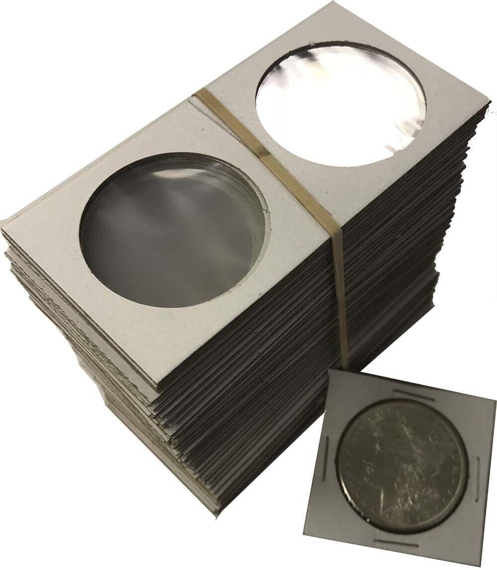 Large Dollar Size 2x2 Coin Cardboard Mylar Flip Holder 25