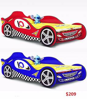 RED/BLUE Racing Car Single Bed, Now Only $209 Salisbury Brisbane South West Preview