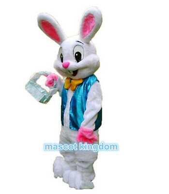 Easter Bunny Mascot Costume Rabbit Cartoon Hare Fancy Party Dress Adult - Costume Cartoon