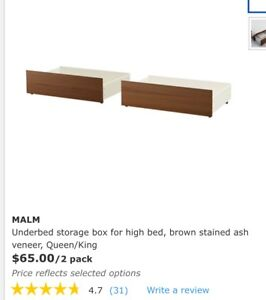 Ikea Malm underbed storage box with wheels
