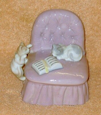 "San Francisco Music Box Co ""Memories"" Cats Playing on Chair"