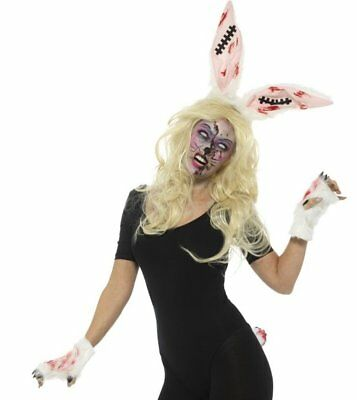 Zombie Bunny Kit Dead Rabbit Sinister Animal Adult Halloween Costume Accessory (Dead Rabbit Costume)