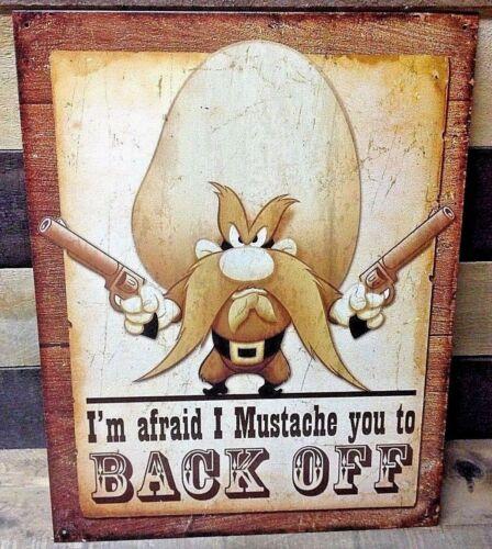 YOSEMITE SAM Mustache Metal Picture Poster Saturday Morning Cartoon Decor Gift