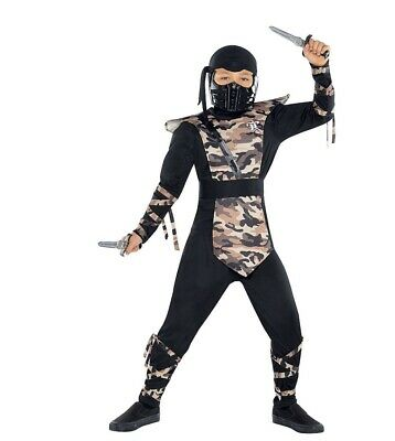 Party City Boy Costumes (Combat Ninja Size Child L Large Boys Kids Black Costume - Party)