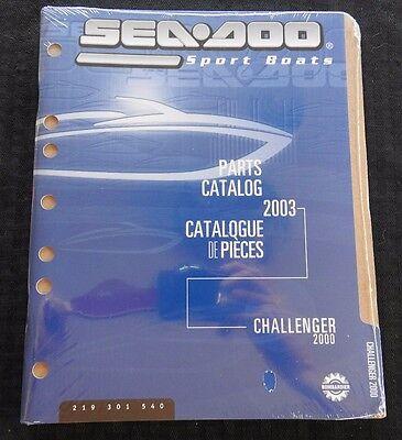 GENUINE 2003 SEA DOO CHALLENGER 2000 JET BOAT SPORT WATERCRAFT PARTS MANUAL NEW