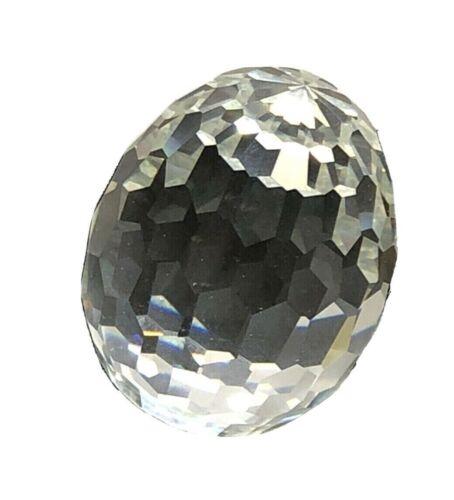 Natural Rock Crystal Quartz Faceted Egg Shaped Loose Gemstone 60MMx45MM