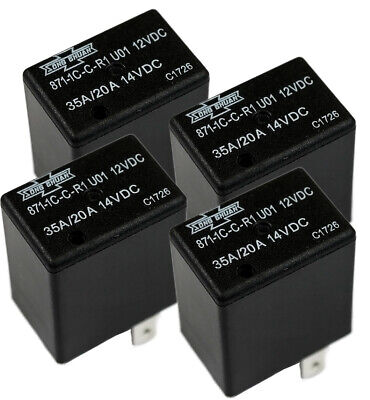 4x Song Chuan 12vdc Micro Spdt 2030a Relay Replace Acv11212 Cm1c-r-12v