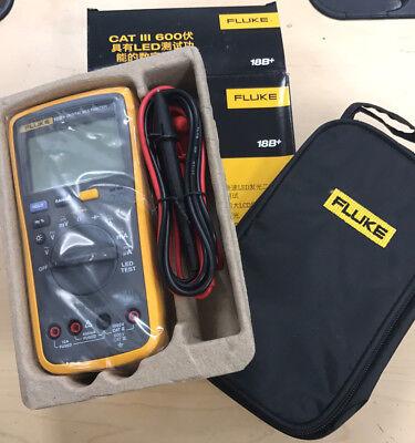 New Fluke Digital Multimeter F18b Led Tester 18b Voltmeter With Fluke Bag