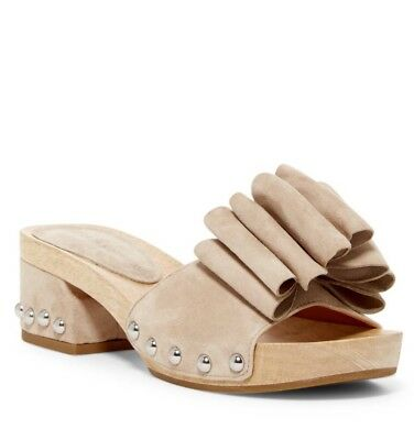 (NEW Sigerson Morrison Aida Bow Clog Slide Sandals Size 9.5)