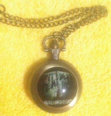 Pocket Watch The Walking Dead w/chain  (Watch Walking Dead)