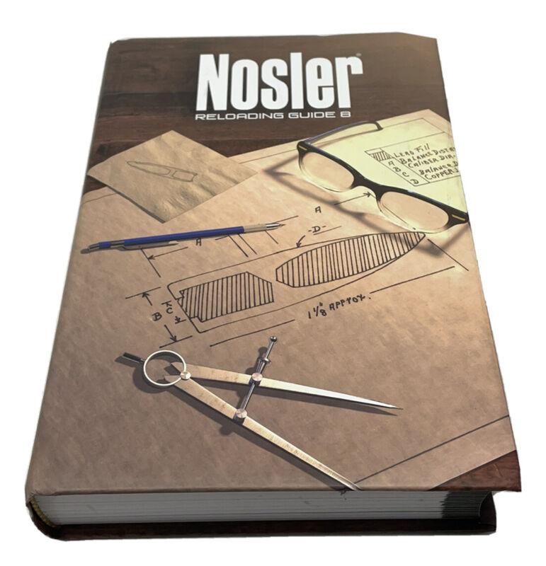 Nosler Reloading Guide 8 Hardcover Accubond Long Range Bullet Data  🇺🇸