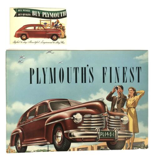 1942 Plymouth Sales Brochure w/ Original Postcard! New Old Stock