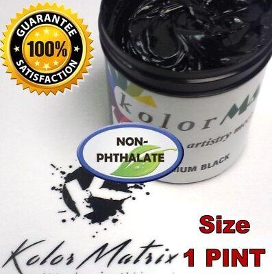Gen Premium Midnight Black Plastisol Screenprint Ink - Non Phthalate Pint