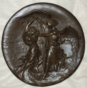 "Treasures of the Dore Bible ""Jacob And The Angel"" Merri Roderick fused bronze"