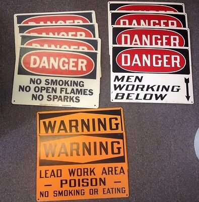 Pick 1 Rigid Plastic 10x 14 Warning Sign Danger -no Smoking-men Working-poison