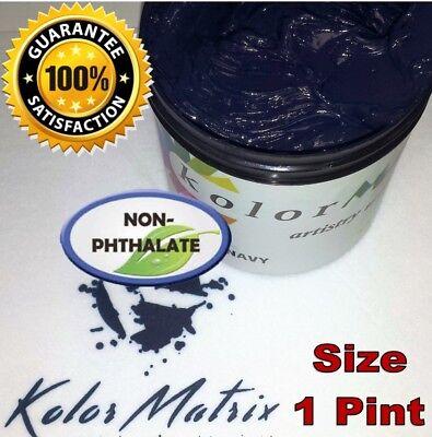 Gen Opaque Navy Premium Plastisol Screenprint Ink - Non Phthalate Pint