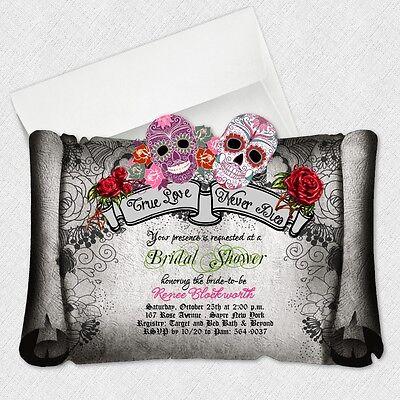 Sugar Skull Bridal Shower Invitations Day Of The Dead Wedding Invitation - Skull Wedding Invitations