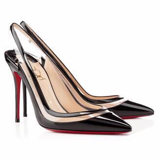 Christian Louboutin Paulina Patent Leather Slingback Pointed Toe