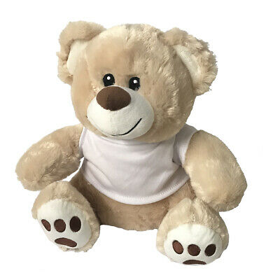 15CM Teddy Bear - Cream With Sublimation T-Shirt For Heat Transfer Press