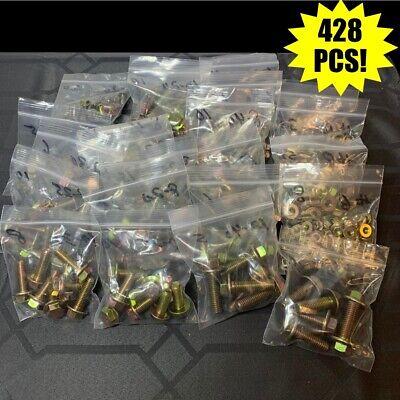 Grade 10.9 Metric Flange Bolt Flange Nut Yellow Assortment Kit - 428 Pieces