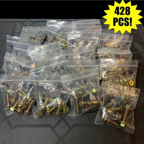 Grade 10.9 Metric Flange Bolt & Flange Nut Yellow Assortment Kit - 428 Pieces!