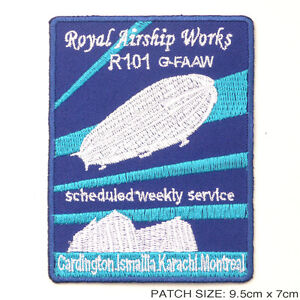 R101-Royal-Airship-Works-Zeppelin-Embroidered-Iron-On-Patch