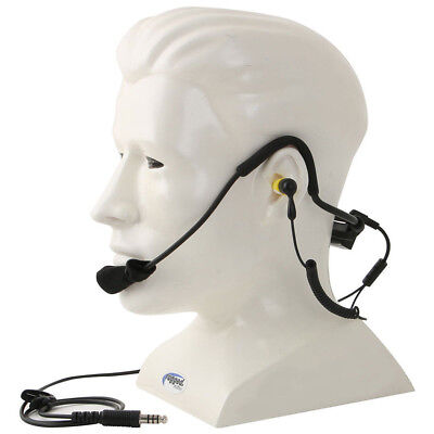 Ear Plug Radio - Rugged Radios H10-OFF Lightweight Off Road Cable Plug Headset w Ear Buds & Mic