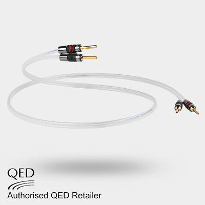 QED Silver Anniversary XT Speaker Cable 1 x 1m Terminated 4 AIRLOC Forte Plugs