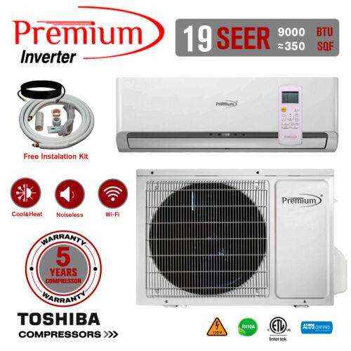 9000 BTU Air Conditioner Mini Split 19 SEER INVERTER AC Ductless Heat Pump 110V