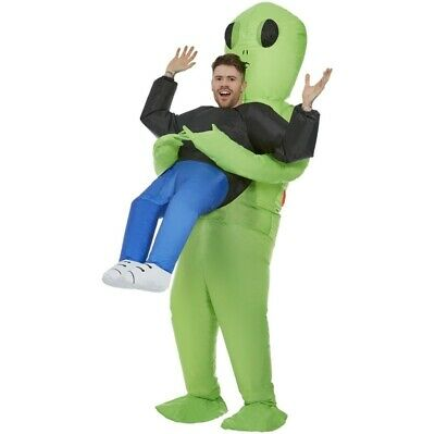 Adult Inflatable Halloween Fancy Dress Alien Abduction Costume Alian by Smiffys