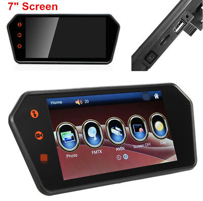 7'' Touch Screen LCD Bluetooth Car Rear View Parking Reversing Monitor Display