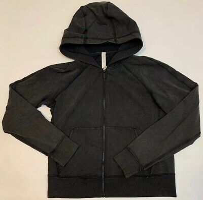 Lululemon Womens Workout Zip Up Black Sweater Size 8