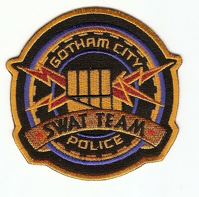 + BATMAN  Aufnäher Patch  GOTHAM CITY POLICE SWAT TEAM Cosplay