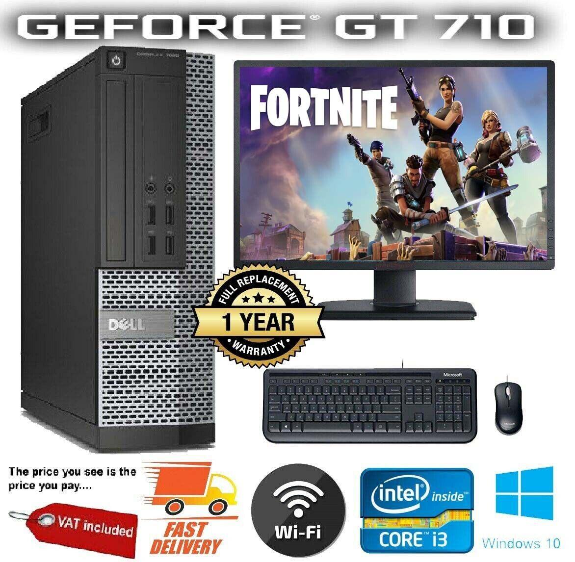 Computer Games - CHEAP FAST FORTNITE GAMING PC Dell/LENOVO COMPUTER DESKTOP 8GB 500GB GT710 Win10