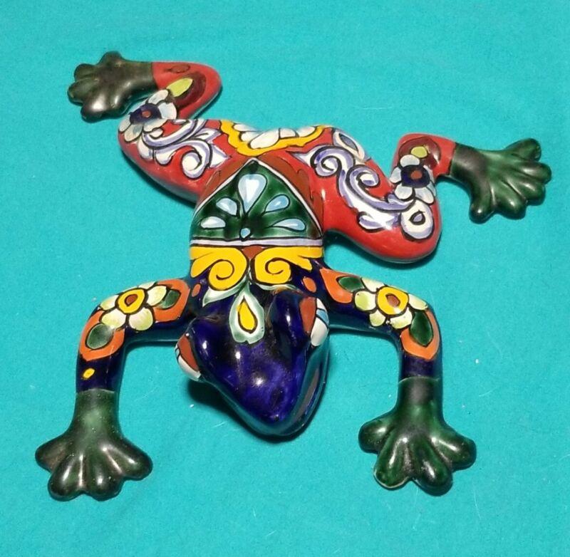 Glazed Ceramic Pottery Frog Figurine