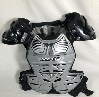 Acerbis Fusion silver CHEST PROTECTOR MOTOCROSS  BODY ARMOUR MADE IN ITALY