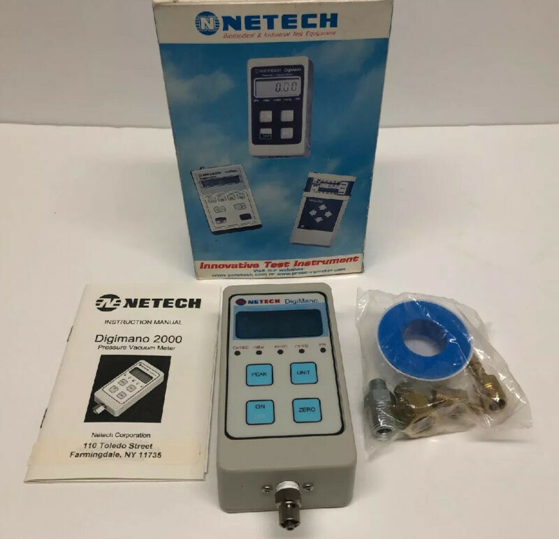 NETECH DIGIMANO PRESSURE / VACUUM METER 220-2CMH20