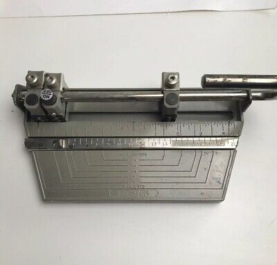 Vtg Boston 3-hole Heavy Duty Metal Hole Punch With Adjustable Hole Positions