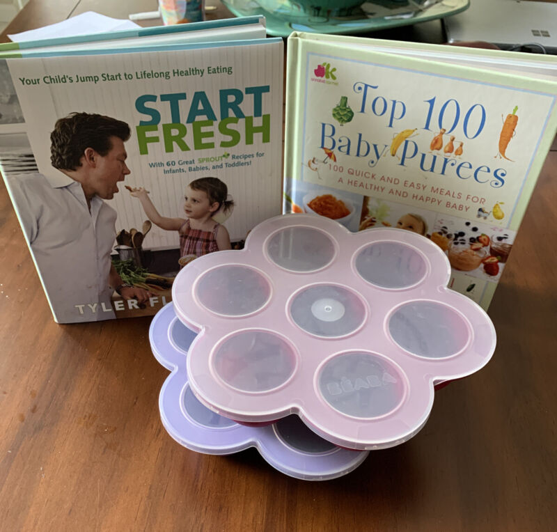 Beaba Baby Food Containers (2) Plus 2 Cookbooks